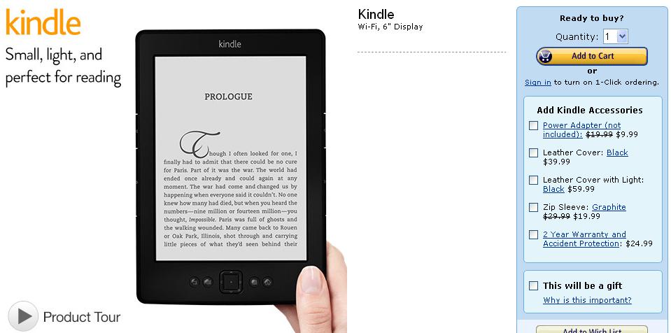 A Kindle-t a kosárba!